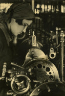 Margaret Bourke-White, [Young woman at a lathe, Stalingrad, Soviet Union], 1930 Courtesy of Special Collections Research Center, Syracuse University Libraries Photo © Estate of Margaret Bourke-White/Licensed by VAGA, New York, NY