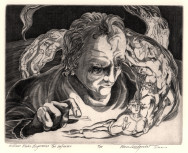 EVAN LINDQUIST, William Blake Engraves The Inferno, 2010 © Evan Lindquist/ VAGA