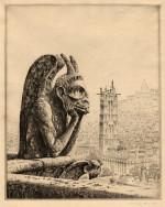 JOHN TAYLOR ARMS, Le Penseur de Notre Dame, 1923