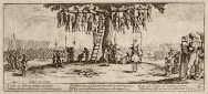 Jacques Callot, The Hanging Tree, from from Les Grandes Miseres de la Guerre, 1633. Syracuse University Art Collection.
