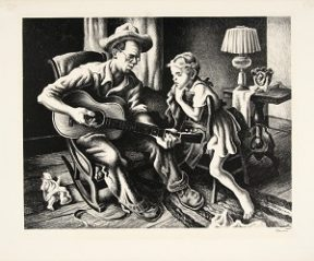 Thomas Hart Benton, The Music Lesson, 1943. SUAC 1968.032. ©Thomas Hart Benton. Licensed by VAGA, New York, N.Y